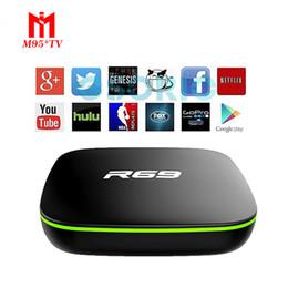 Wholesale Allwinner Android Box - R69 Android 4.4 TV Box DDRIII 1GB+8GB allwinner H2 Quad-Core (1.5GHZ) Wifi 802.11 b g  n Media Player VS MXQ V88 2017