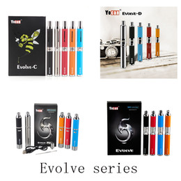 Wholesale Wholesale Herbal Oils - 100% Original Yocan Evolve-C Evolve-D Evolve Plus Evolve Starter kit Wax Herbal Vape Pen Kit With 650 1100mAh Battery Oil Wax Atomizer