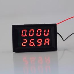 Wholesale dc volt ammeter - Wholesale-1pcs LED Digital Volt DC 4.5-30V 0-50A Dual Red meter Ammeter Voltage AMP Power ES9P High Quality