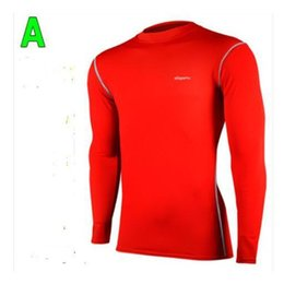 Wholesale Pro Sports Football - Pro outdoor men sport Athletic track fitness Compression soccer training long sleeve Tights football Leggings suit sporttwear
