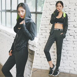 Wholesale Autumn Ladies Clothes - 2017 autumn and winter new ladies fitness running exercise fitness suit suit yoga clothes three-piece women's long-sleeved trousers