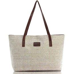 Wholesale Women S Tote Wholesale - Wholesale-Women Handbag Canvas Shoulder Bags Appliques Portable Bag Large Capacity Lady Shopping Casual Totes 2016 Summer Style S-48
