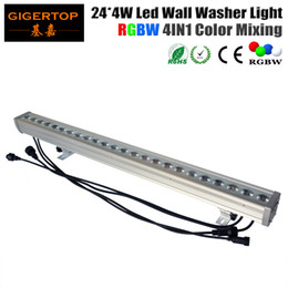 Wholesale Led Wall Washers Outdoor - TIPTOP High Quality 24*4W Outdoor Led Wall Washer Light RGBW Led Bar Light DMX Mode,Led Stage Light Waterproof IP65 90V-240V