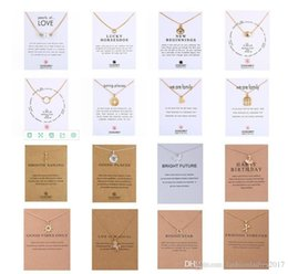 Wholesale Family Christmas Cards - 2017 New Dogeared Necklace With card High quality Sun love family Luck Pendant Noble and Delicate Silver Choker Valentine Day Christmas Gift