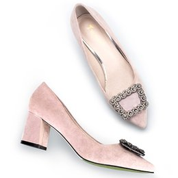 Wholesale Cheap Hot Pink High Heels - Hot Womens High Heels Office Shoes Designer Cheap Ladies Dress Pumps Fashion Female Heels Outlet Shoe Online Purchase Name Branded Footwear