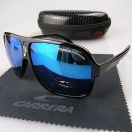 Wholesale Luxury Fashion Eyeglass Frame Brands - New Fashion Men Women Retro Sunglasses Outdoor Sport Eyeglasses Unisex UV Protection Luxury Brand Glasses with Case Box