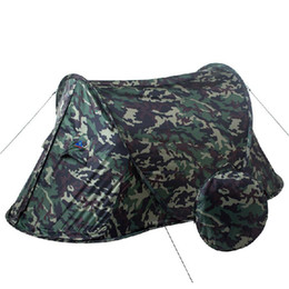 pop up bags Australia - Playking Camouflage high quality automatic single person single layer ultralight camping tent pop up easy to carry small bag