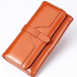 Wholesale Hot Womens Photo - Hot sell womens purse wallet long leather wallet fashion zipper large wallets for ladies wholesale and retail