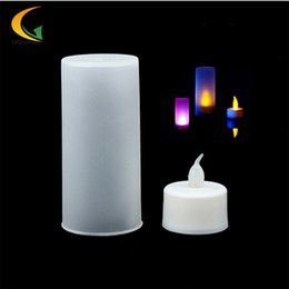 Wholesale Electronic Candle Light Sensor - Wholesale- 7-color baby room LED Electronic Switch nightlight Color Change Night Light motion sensor light children luminary