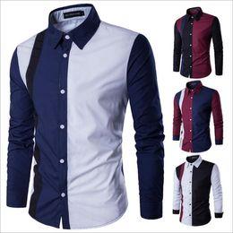 d5ad5589b Camisas de tallas grandes Hombres Verano Slim Fit Tops Casual Camiseta  Hombres Camisas de vestir de manga larga Masculinas Camisas de algodón Camisas  de los ...