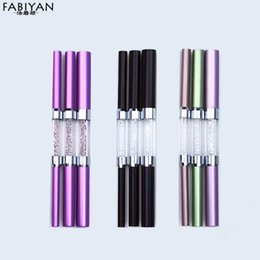 Wholesale french manicure tools - Wholesale- 3Pcs Set Double-ended Different Size C Curve Rhinestone Metal Acrylic Nail Art Tips French Shaping Rod Stick Tube Manicure Tools
