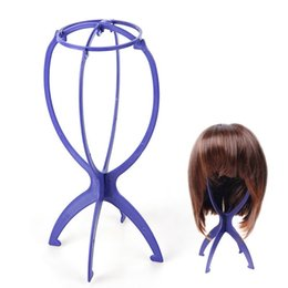 Wholesale Wholesale Hat Stand - Plastic Folding Stable Durable Wig Hair Head Hat Cap Display Holder Stand Tool Hair Accessories Free Shipping ZA2515