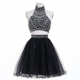 Argentina Sexy Backless corto de dos piezas vestidos de baile 2016 de lujo Rhinestones formales vestidos de noche envío rápido Vestidos de Noiva Suministro