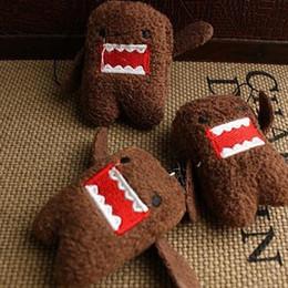 Wholesale Teddy Bear Keyrings - DOMO KUN Plush toys 5cm Phone Charm Pendant Lanyard doll Bag Key chain domokun funny kawaii keyring Domo-kun plush toy
