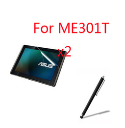 Wholesale Smart Pad Tablet - Wholesale- 3in1 2x LCD Clear Screen Protector Films Protective Film Guards +1x Stylus For ASUS MeMO Pad Smart 10 ME301T K001 10.1'' Tablet