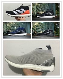 Wholesale D Ace - Fashion Top Quality With Box Boots ACE16 ACE 16 PureControl Ultra Boost Ultraboost Shoes Men City Sock Shoes For Women Free shipping