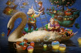 Wholesale Best Wall Picture Frame - Living Room Wall Picture Fantasy Art Victor Nizovtsev Oil painting Printed on canvas Kids Room Christmas Decorations best Christmas Gift N66