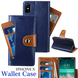 Wholesale Framed Bag - New Arrival PU Leather Cover Wallet Case Card Stand for iPhone X Flip Wallet Case Photo Frame Cover Samsung Note 8 with OPP Bag