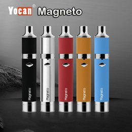 Wholesale Authentic Yocan Magneto Wax Pen Kits Original Yocan E Cigarette Kits With Magneto Connection Dab Tool mAh Battery Upgraded Evolve Plus