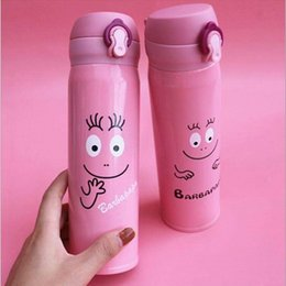 Wholesale Wholesale Crosses Metals - Barbapapa Stainless Steel Thermos Bottle Beer Mugs Water Metal Cup Creative Gifts Drink Bottles Tumbler Cups Custom Mugs