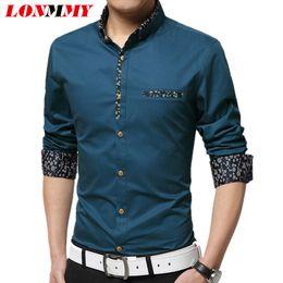 Wholesale Imported Mens Shirts - Wholesale- LONMMY M-5XL Striped shirt men camisa masculina autumn style imported clothing men shirt Cotton Long sleeve mens dress shirts