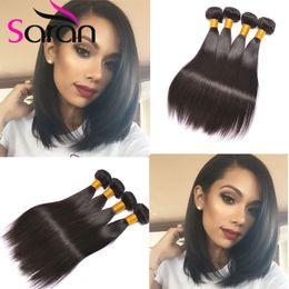 Wholesale Cheap Good Mongolian Hair - 7A Malaysian Straight Virgin Hair Extensions 4 Bundles Straight Hair Weave Cheap Straight Human Hair Bundles Good Cheap Weave