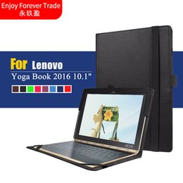 "lenovo yoga skin cover case Promo Codes - Wholesale- Ultra Thin Cover For Lenovo Yoga Book 2016 10.1"" Tablet PC Simple Design Litchi Grain PU Leather Skin Shell Case Can Put Keyboar"