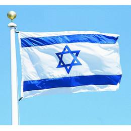 Wholesale Cm Festival - 87cm x 148cm ISRAEL National FLAG Jewish Star Magen David Israeli Country flag, 3*5 feet for Festival Banner Home Decoration Flag