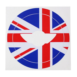 Wholesale Mini Cooper Stickers - Wholesale- Red Blue Union Jack Decal Sticker For 2nd Gen 2007-2013 2014 MINI Cooper Steering Wheel
