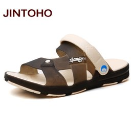 Wholesale Ladies Plastic Sandals - Wholesale- JINTOHO Unisex Summer Beach Shoes Women Sandals Upstream Shoes Men Sandals Ladies Slides Water Men Shoes Plastic Slippers