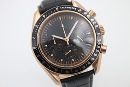 Wholesale Nice Automatic Watches - Luxury AAA MENS WATCH STOPWATCH ORIGINAL CLASP QUARTZ DARK SIDE OF MOON ROSE GOLDEN CHRONOGRAPH NICE stainless steel free shipping watch men