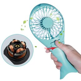 Wholesale Ventilation Fans - AC cooling Portable Mini USB   Battery Fan Air Cooling Handheld Fan Palm-Leaf Fan Personal Cooling Fans With Rechargable Battery