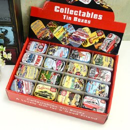 Wholesale candy pills - Collectable Tin Box Vintage Mini Jewelry Pill Candy Organizer Favor Storage Boxes With Lids Rectangle Case Building Container New 1 6gf D