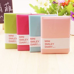 Wholesale Smiley Diary - Wholesale- 2017 Direct Selling Top Fashion Paper School Planner Diary Memo Notebook Cute Charming Portable Smile Smiley Note Book K1451