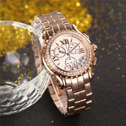 Wholesale Watches For Women Stopwatch - New fashion lady watch quartz stopwatch luxury watches for women stainless steel wristwatch cp04