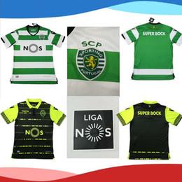 Wholesale Portugal Xl Soccer Jersey - 2017 2018 Sporting Clube de Portugal Lisbon Home and Away Futbol Camisa Lisboa Dost Martins Soccer Jersey 17 18 Football Camisetas Shirt
