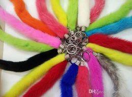 Wholesale Crystal Fox Tail - Imitation fox fur plush bag pendant pendant jewelry tail waist key special offer