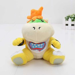 Wholesale Super Mario Bros Soft - 18cm New Super Mario Bros Bowser JR soft Plush Stuffed Figure Toys for gifts
