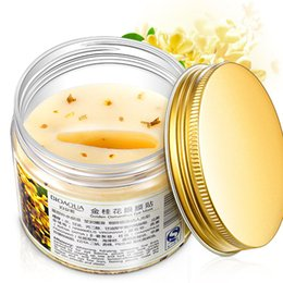 Wholesale Eye Lining - 80Pcs Bottle Golden Osmanthus Eye Mask Patch Eye Care Moisturizing Anti Remove Eye Pouch Fine Lines Fading Dark Circle 3006013