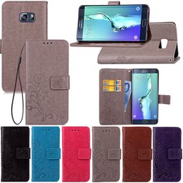 Wholesale S4 Pocket - Premium PU Leather Flip Fold Wallet Case with [ID&Credit Card Slot] for Samsung Galaxy S8 S7 S6 S5 S4 mini edge plus