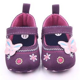 Wholesale Baby Girl Pre Walker Shoes - Wholesale- Baby Shoes Girls First Walker Butterfly Soft Sole Toddler Pre walker Shoes Primer Walker Non Slip