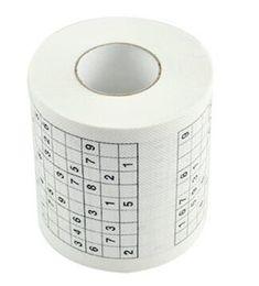 Canada Sudoku salle de bains toilettes papier loo jeu drôle tuer le temps créatif multi fonction famille hôtel serviette cadeau nouveauté 4hk j r cheap funny toilet games Offre