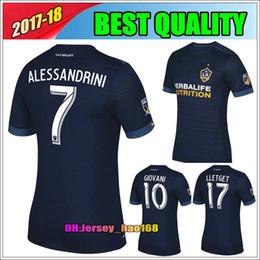 Wholesale Soccer Jersey Galaxy - 17 18 Los Angeles Galaxy away blue soccer jersey top thai quality GERRARD KEANE Jerseys 2017 LA Galaxy Football shirt BECKHAM