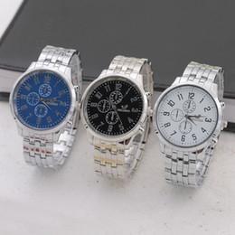 Wholesale Tungsten Digital Watch - 2017 New Luxury Fashion Design Black Blue White Men Watch Quartz Casual Watches Male Business Wristwatch