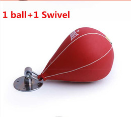 Wholesale Training Boxeo - Boxing training equipment punching speed ball Pear ball bag mma boxing speedball bags with sandbags swivel accessory boxeo