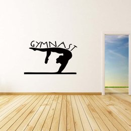 Wholesale Dance Words Wall Decals - New Product For Gymnast Girls Bedroom Wall Girls Removable Decal Vinyl Words Sticker Sitting Room Kids Dance Diy