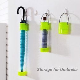Wholesale Car Umbrella Storage - 2017 Telescopic Storage for umbrella Colored Retractable storage box Umbrella barrel Car accessories Novelty household 100pcs