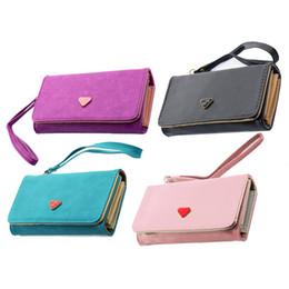 Wholesale Case Envelope Phone - Wholesale- Fashion Envelope Card Hold Wallet PU Leather Long Purse Clutch Case Cover for Phones 4 color