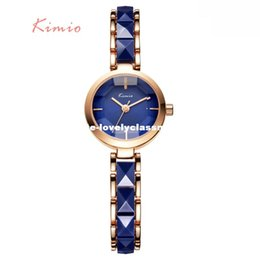 Wholesale kimio brand for watch - KIMIO Imitation Ceramic Gold Watches Women Fashion Watch 2016 Brand Luxury Quartz-watch Wristwatches Women's Watches For Women