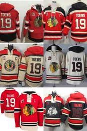 Wholesale Old Cheap - Hot Sale Mens Cheap Chicago Blackhawks 19 Jonathan Toews Old Time Best Quality 100% Embroidery Logo Ice Hockey Hoodies Accept Mix Order